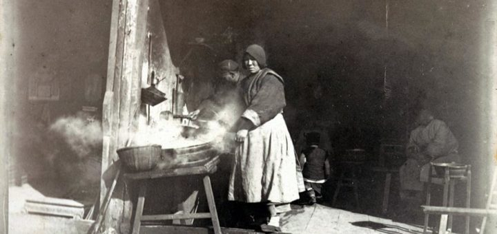 A Chinese hot water shop, c. 1902.